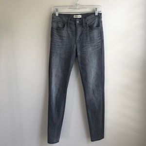 Madewell skinny jeans in grey. Size 27